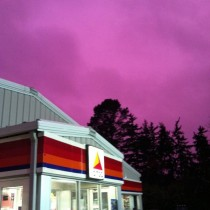 the sky was purple in wisconsin last night after a storm