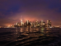 The skyline of NYC Photo taken on a sailing ship