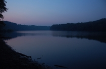 The sleepy Potomac River at dusk  x