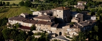 The small medivial village of Murlo near Siena in Tuscany Italy