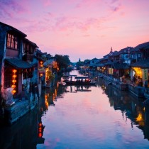 The small town of Xitang which lies on the intersection of nine rivers China