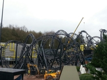 The Smiler under construction Staffordshire c