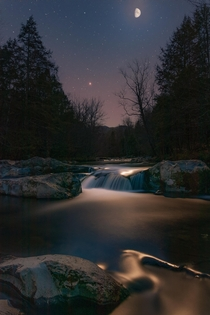 The Smoky Mountains in the moonlight