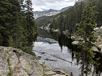 The snow around Lake Verna in Rocky Mountain National Park has finally melted enough that its accessible Its was so worth the wait x