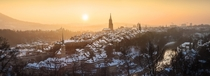 The snow capped roofs of Bern Switzerland  Photographed by Fabio_S