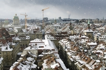 The snow-capped roofs of Bern Switzerland  Photographed by PeekM
