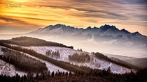 The snow-capped Tatra Mountains in Slovakia