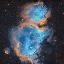 The Soul Nebula is  light years from Earth I captured it with  hours of exposure time across multiple days
