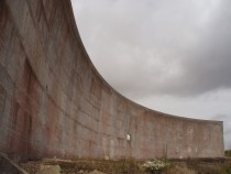 The Sound Wall one of three acoustic mirrors from Denge a former Royal Airforce base in the UK More info in the comments