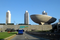 The South Mall Expressway leading to a tunnel under the Empire State Plaza- Albany