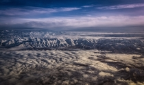 The Southern Alps from the air South Island of New Zealand