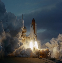 The Space Shuttle Atlantis lifts off from the Kennedy Space Centers Launch Pad A Launch occurred at  am EST Nov