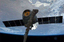 The space station has caught a dragon Specifically in mid-April the International Space Station captured the unmanned SpaceX Dragon capsule sent to resupply the orbiting outpost