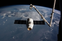 The SpaceX Dragon SpX- cargo vessel arrives at the International Space Station on Feb