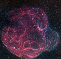 the Spaghetti Nebula seen toward the boundary of the constellations Taurus and Auriga David Lindemann