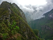 The spectacular Huayna Picchu after a rainstorm Peru