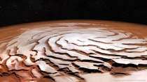The spiral north pole of Mars CreditNASAMGSMOLA science team