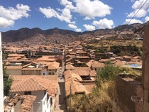 The sprawling streets of Cusco Peru