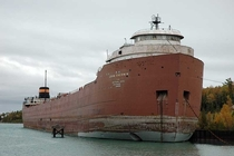 The SS John Sherwin a lake freighter that has sat inactive for  years