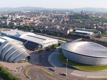 The SSE hydro and the armadillo in glasgow scotland x