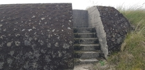 The stairs leading to the gun mount on the WW Bunker