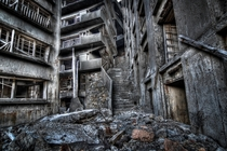 The Stairway To Hell in the Abandoned Hashima City