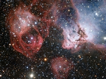 The star formation region NGC  imaged by the ESO Very Large Telescope