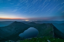 The star trail version of my last post - Helvellyn UK