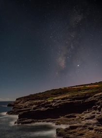 The stars over Lanai Lookout Oahu