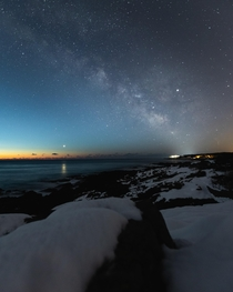 The start of Milkyway season here in the northern hemisphere Mars seen to the left reflecting off the ocean floor  OC