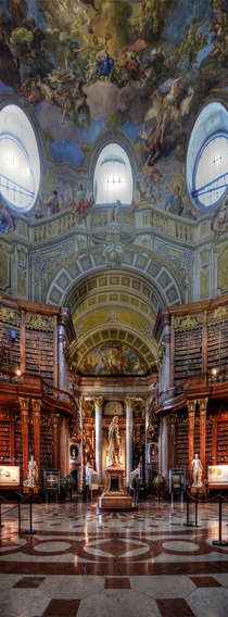 The State Hall of the Austrian National Library formerly the Imperial Court Library in Hofburg Palace Vienna