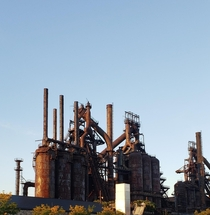 The Steel Stacks Made to be functional now an exhibit  Built by the Bethlehem Steel Corporation Previously Saucona Iron Company which was established by Augustus Cole This beautiful piece of history took many years to be built started in  eventually to op