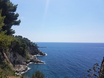 The steep and rocky coast in Dubrovnik   x