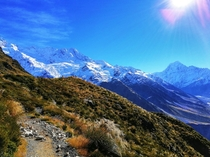 The  steps were definitely worth it - Sealy Tarns Track Mount Cook National Park in New Zealand -