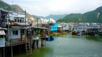 the stilted fishing village of Tai O near Hong Kong