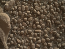 The stones in this photograph taken by Curiosity on Mars look like round stones in the stream beds in the world Maybe a long time ago these pebbles belonged to a Mars river  NASAJPL-CaltechMSSS