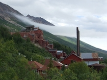 The -storey tall Kennecott Concentration Mill and abandoned mining town in Alaska outside of McCarthy History link in comments