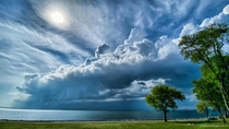 The storm is coming Colt State Park Bristol Rhode Island USA