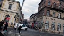 The street corner in Sarajevo where the World War  began exactly  years ago in