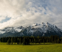 The stunning alps as seen near Mittenwald Austria OC