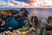 The stunning Malin Head during sunset Donegal Ireland
