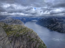 The stunning View from Preikestolen Norway