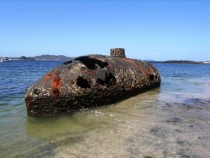 The submarine Explorer built between  and  in Brooklyn and abandoned in  at San Telmo in the Pearl Islands Panama