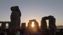 The Summer Solstice at Stonehenge yesterday morning