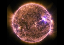 The sun emits a mid-level solar flare an M-class peaking at  EDT   GMT in this image captured by NASAs Solar Dynamics Observatory on June   Photo by NASAReuters