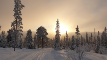 The sun makes a rare appearance in Vemdalen northern Sweden