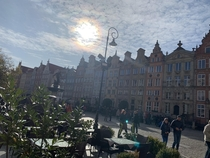 The Sun over Old Town Gdansk