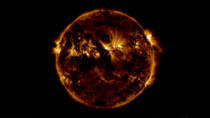 The Sun - Screenshot from NASAs SDO sun video