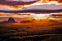 The sun sets over Wild Horse Mountain in Queensland Australia Courtesy ABC contributor