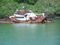 The sunken tug Sea Salvor Fajardo Puerto Rico